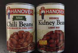 """Hanover canned beans"